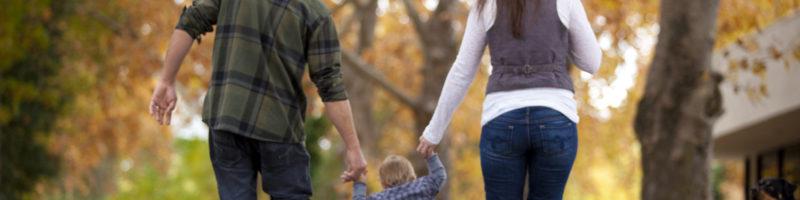 Family Walking During Fall