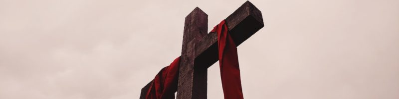 Cross with Red Garment
