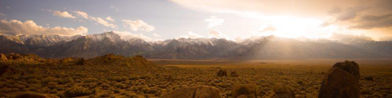 Desert to Mountaintop in Sun